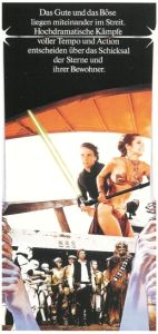 "German Return of the Jedi Style ""Deko"" Luke / Leia Skiff Door Poster"