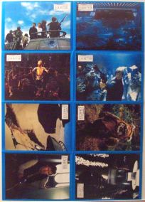 """German Return of the Jedi Style """"Lobby Cards"""" Uncut #2 One-Sheet / A1 Size"""