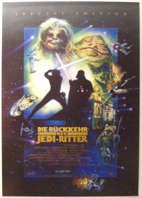 """German Return of the Jedi Special Edition Version """"D"""" One-Sheet / A1 Size"""
