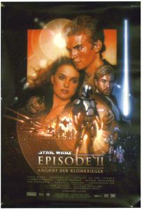 """German Attack of the Clones Version """"B"""" One-Sheet / A1 Size"""