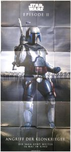"German Attack of the Clones Version ""Bad Guys"" Jango Banner"