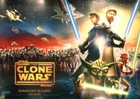 """German The Clone Wars Version """"A"""" Advance Secondary Horizontal One-Sheet / A1 Size"""