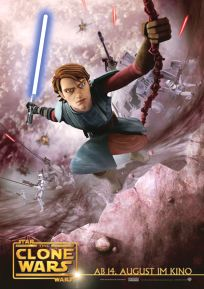 "German The Clone Wars Version ""Animated Action"" Anakin / Fortress Wall One-Sheet / A1 Size"
