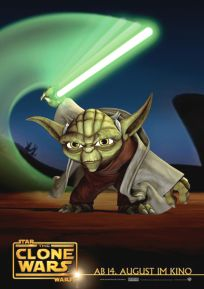 """German The Clone Wars Version """"Animated Action"""" Yoda One-Sheet / A1 Size"""