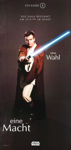 "German The Phantom Menace Version ""One Series"" Obi-wan Banner"