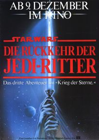 "German Return of the Jedi Style ""A"" One-Sheet / A1 Size"