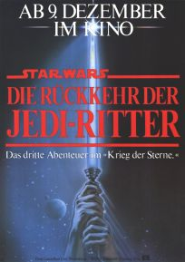 """German Return of the Jedi Style """"A"""" One-Sheet / A0 Size"""