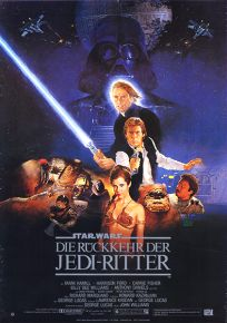 """German Return of the Jedi Style """"B"""" One-Sheet / A1 Size"""