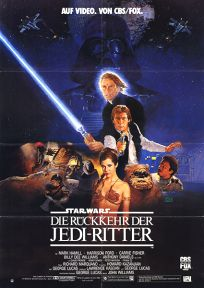 "German Return of the Jedi Style ""B""  CBS / FOX Video One-Sheet / A1 size"