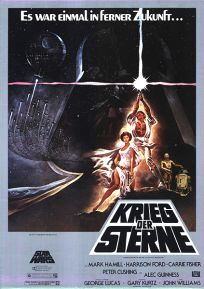 "German Star Wars Style ""A"" '82 Re-release One-Sheet / A1 Size"