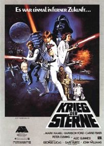 "German Star Wars Style ""C"" '82 Re-release One-Sheet / A1 Size"