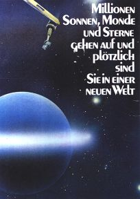 """German Star Wars Style """"Deko"""" X-wing and Blue Moon One-Sheet / A2 Size"""