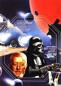"German Star Wars Style ""Deko"" Obi-wan and Darth Vader One-Sheet / A2 Size"