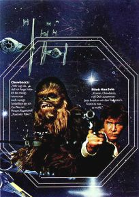 "German Star Wars Style ""Deko"" Chewbacca and Han Solo One-Sheet / A2 Size"