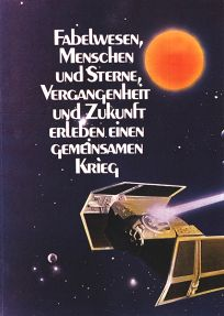 "German Star Wars Style ""Deko"" Vader's Tie-fighter and Yellow Sun One-Sheet / A2 Size"