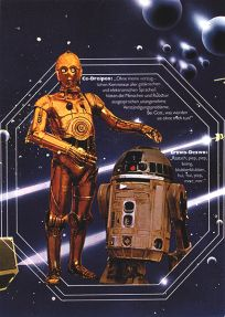 "German Star Wars Style ""Deko"" C-3PO and R2-D2 One-Sheet / A2 Size"