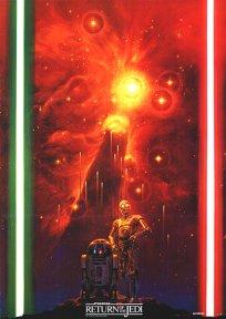 """Japanese Return of the Jedi Yamakatsu Style """"B"""" Poster"""