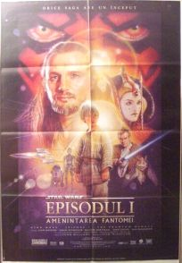 "Romanian The Phantom Menace Version ""B"" One-Sheet"