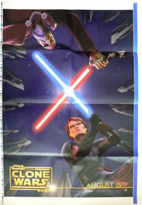 """Romanian The Clone Wars Version """"Animated Action"""" Anakin vs. Dooku One-Sheet"""