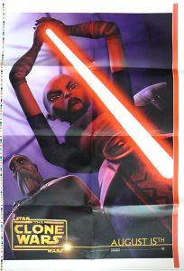 "Romanian The Clone Wars Version ""Animated Action"" Asajj Ventress / Count Dooku One-Sheet"