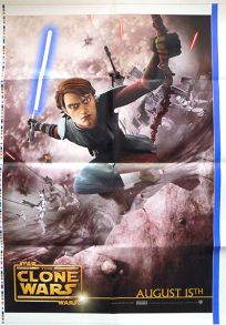 """Romanian The Clone Wars Version """"Animated Action"""" Anakin / Fortress Wall One-Sheet"""