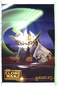 """Romania The Clone Wars Version """"Animated Action"""" Yoda One-Sheet"""