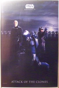 "Singapore Attack of the Clones Style ""Bad Guys"" Jango / Dooku One-Sheet"