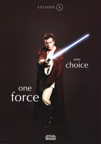 "Singapore The Phantom Menace Version ""One Series"" Obi-wan Kenobi One-Shee"