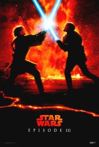 """Singapore Revenge of the Sith Version """"Characters"""" Lava One-Sheet"""