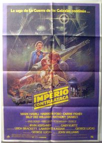 """Spanish Empire Strikes Back Style """"A"""" Foreign '82 Re-release One-Sheet"""