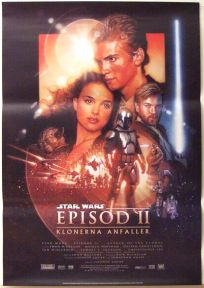 "Swedish Attack of the Clones Version ""B"" One-Sheet"