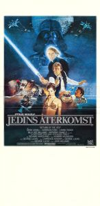 "Swedish Return of the Jedi Style ""B"" Stolpe Poster"