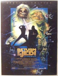 """Swiss Return of the Jedi Special Edition Version """"D"""" French One-Sheet / A1 Size"""