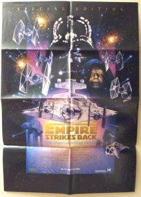 """Swiss Empire Strikes Back Special Edition Version """"C"""" German One-Sheet / A1 Size"""