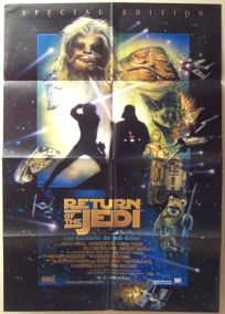 """Swiss Return of the Jedi Special Edition Version """"D"""" German One-Sheet / A1 Size"""