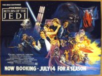 "British Return of the Jedi Style ""A"" Foreign Advance Booking Quad"