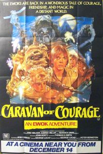 "British The Ewok Adventure Style ""B"" Caravan of Courage Bus Stop"
