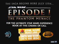 British The Phantom Menace Advance Booking Quad