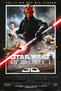 "USA The Phantom Menace Version ""A"" 3-D Mini Poster"