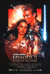 """USA Attack of the Clones Version """"B"""" One-Sheet"""