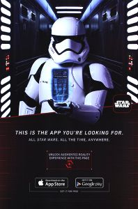 "United States The Force Awakens ""This Is the App You're Looking For"" Poster"