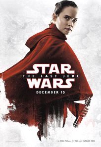 "USA The Last Jedi Version ""Blood Red Cloak"" Rey Bus Shelter"