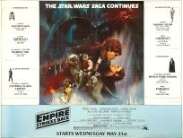 "USA Empire Strikes Back Style ""A"" Subway Two-Sheet"