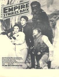 USA Empire Strikes Back Films Incorporated Handbill