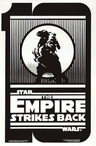 """USA Empire Strikes Back Style """"B"""" 10th Anniversary Silver One-Sheet"""