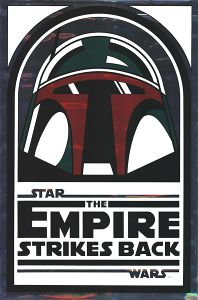 """USA Empire Strikes Back Version """"Silver Test Proof"""" 15th Anniversary One-Sheet"""