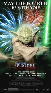 "USA Revenge of the Sith Version ""July Fourth Promo"" Ad / Poster"
