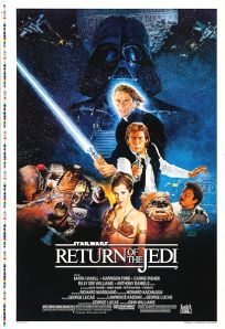 """USA Return of the Jedi Style """"B"""" Android Test Proof One-Sheet"""