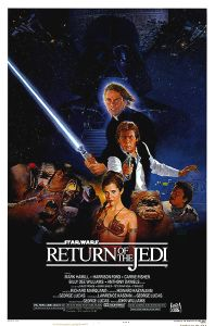 "USA Return of the Jedi Style ""B"" White Logo One-Sheet"