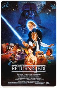 """USA Return of the Jedi Style """"B"""" Small Standee"""